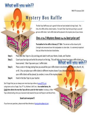raffle box walmart - Editable, Fillable & Printable Online