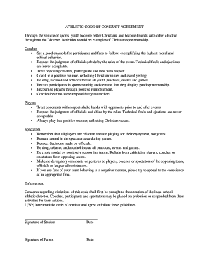 ATHLETIC CODE OF CONDUCT AGREEMENT - Villa Maria Elementary