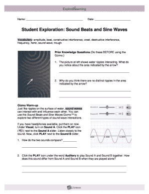 Waves Gizmo Worksheet Answer Key Activity B - Thekidsworksheet
