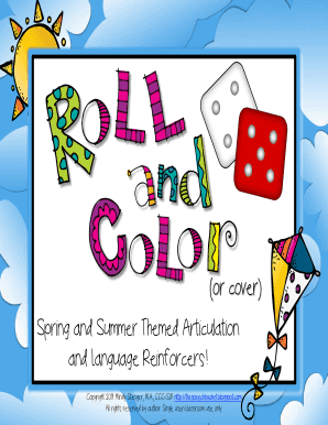 Spring and Summer Themed Articulation and Language Reinforcers ... - southernlocalmeigs