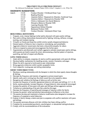 treatment plan goals and objectives for anger - Edit ...