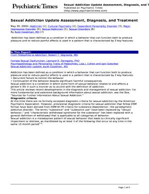 sex addiction diagnostic questionnaire pdf