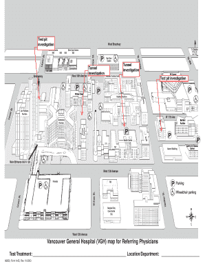 Vancouver General Hospital Map Fillable Online vchnews Vancouver General Hospital (VGH) map for