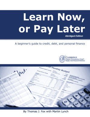 Financial Literacy Guide Adults - Cambridge Credit Counseling