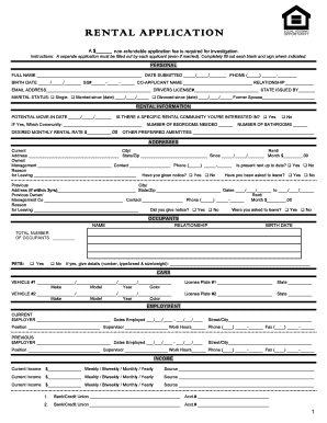 RENTAL APPLICATION 10 22 12   Legalformsorg  Blank Eviction Notice