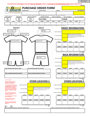 19 Printable Custom T Shirt Order Form Templates