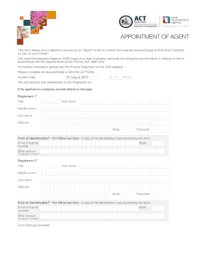 19515 LDA Appointment of Agent Form Ballot OTC.indd - lda act gov