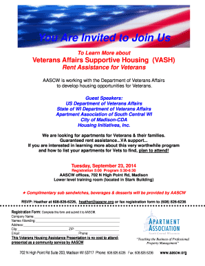 Fillable Online aascw You Are Invited to Join Us - Apartment