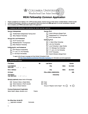 photograph relating to Common Application Printable called BWEAIb Fellowship Preferred Software package Fill On-line, Printable