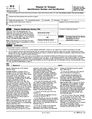 0394 Form W-9 - Uncle Fed