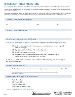 Tufts Navigator Fitnesspdffillercom - Fill Online, Printable ...