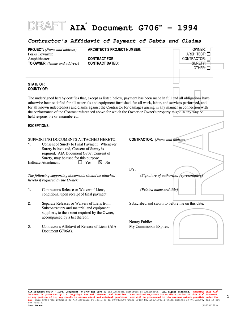Form G706 On Line For Free - Fill Online, Printable