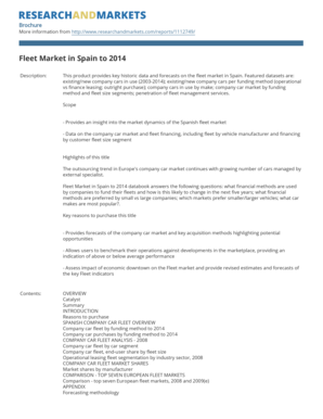 Fleet Market in Spain to 2014 - Research and Markets