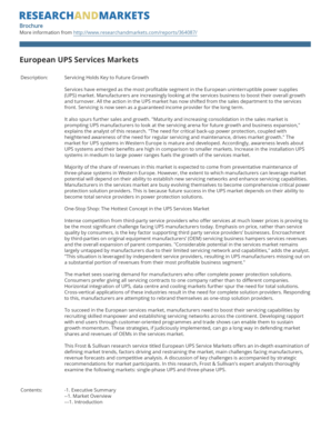 European UPS Services Markets