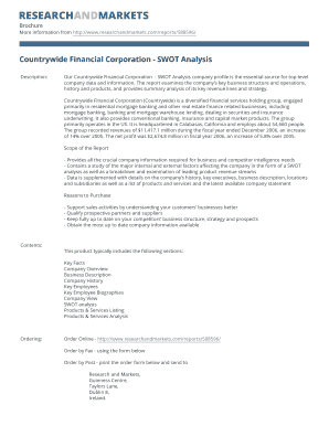 Countrywide Financial Corporation - SWOT Analysis