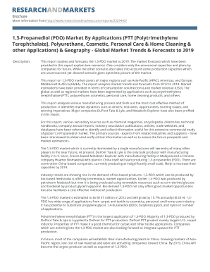1,3-Propanediol (PDO) Market By Applications (PTT ...