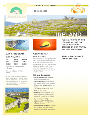 printable travel brochures to annotate form