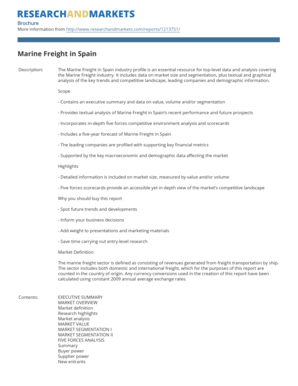 Marine Freight in Spain - Research and Markets