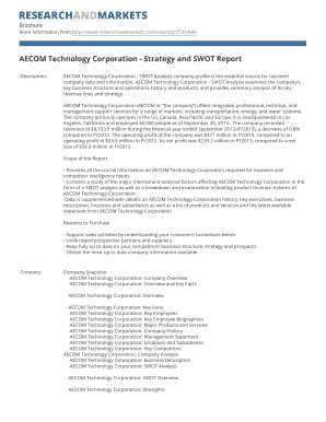 AECOM Technology Corporation - Strategy and SWOT Report