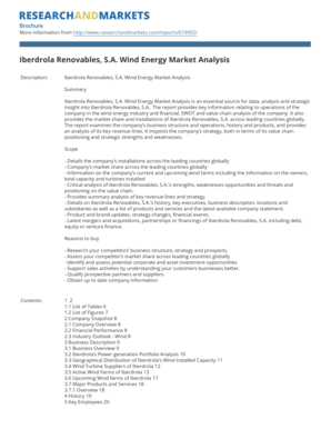 Iberdrola Renovables, S.A. Wind Energy Market Analysis