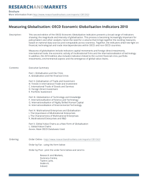 Measuring Globalisation: OECD Economic Globalisation Indicators 2010