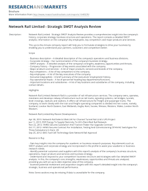 Network Rail Limited - Strategic SWOT Analysis Review