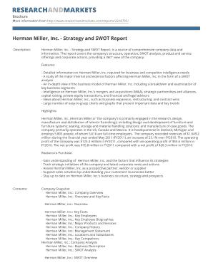 herman miller swot analysis Global office furnitures detailed analysis report 2017-2022 global office furnitures detailed analysis report 2017-2022 (usa) herman miller (usa.