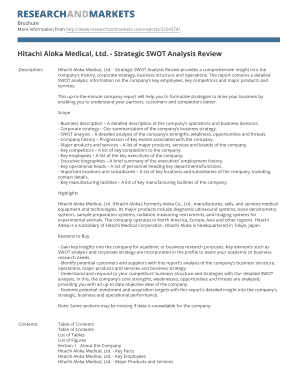 swot analysis of hitachi company pdf form