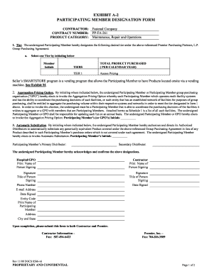 Exhibit a-2 participating member designation form - Fastenal