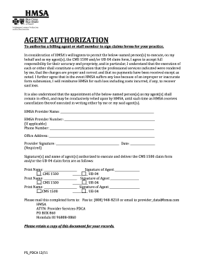 Hmsa Agent Authorization Form - Fill Online, Printable, Fillable ...