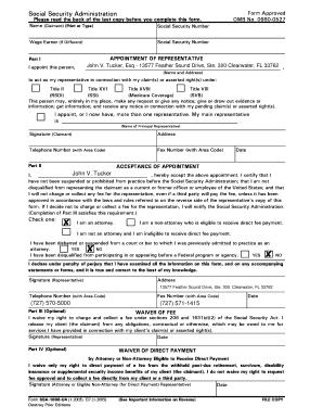 Appointment of Representative - Form 1696 - Tucker & Ludin, PA