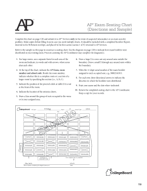 AP Exam Seating Chart (Directions and Sample) Complete the chart on page 120 and submit it to AP Services only in the event of suspected misconduct or an exam security problem