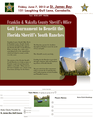 Franklin amp Wakulla County Sheriff39s Office Golf Tournament to bb