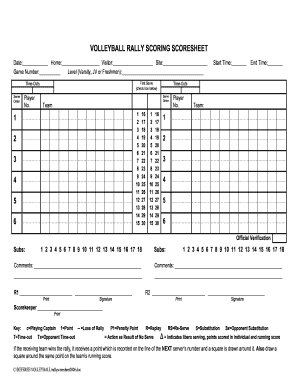 picture relating to Volleyball Stat Sheets Printable titled 23 Printable Volleyball Rating Sheet Sorts and Templates