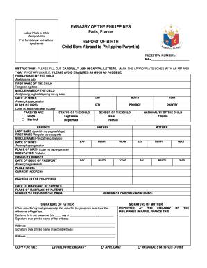 Birth Report Form