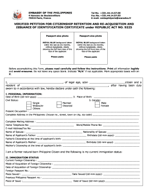 Peion For Dual Citizenship Form - Fill Online, Printable ... on us citizenship application form, british citizenship application form, dual citizenship requirements,