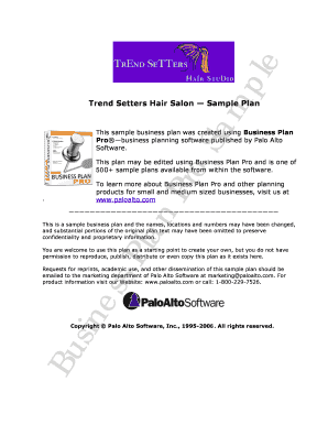 hair salon business plan powerpoint