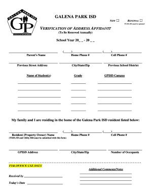 Rate This Form  Address Affidavit Form