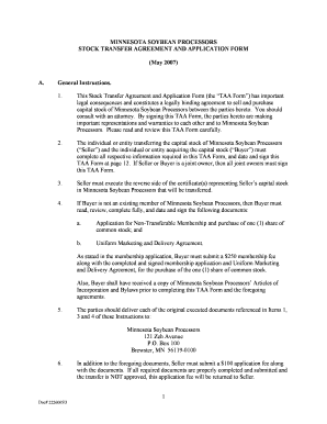 stock transfer agreement form