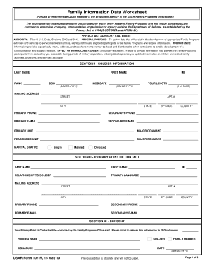 2010-2017 Form USAR 107-R Fill Online, Printable, Fillable, Blank ...