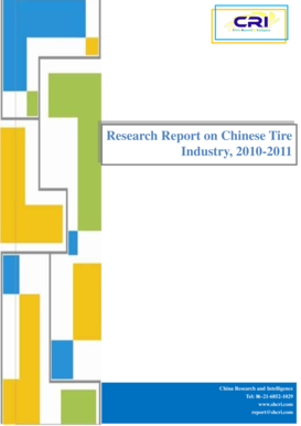 Research Report on Chinese Tire Industry, 2010-2011 - Gcoupon