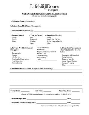Regulations for hospice volunteer program