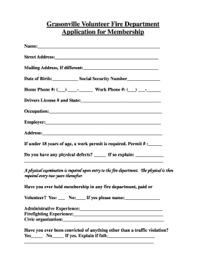 27039846 Volunteer Fire Department Application Forms on volunteer library application, volunteer fire company, fire department job application, volunteer fire recruit,