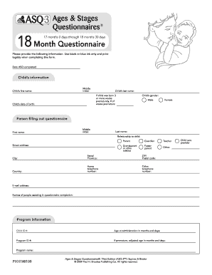 Asq3 18 Month - Fill Online, Printable, Fillable, Blank ...