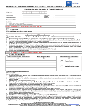 Fillable aig surrender application form - Edit, Print ...