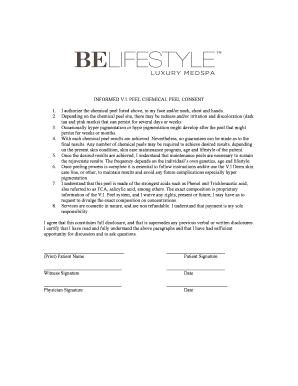 Fillable Online Vi Peel Consent Form Fax Email Print - PDFfiller