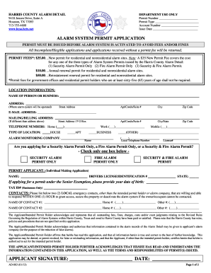 hcso alarm system permit application form