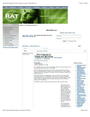 Whos A Ratcom - Fill Online, Printable, Fillable, Blank | PDFfiller