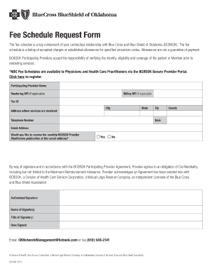 Bcbs Fee Schedule Request Form - Fill Online, Printable, Fillable ...