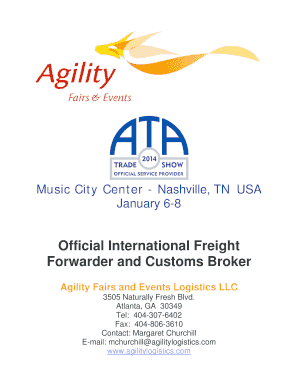 Fillable Online Official International Freight Forwarder and